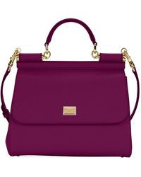 Dolce & Gabbana - Sicily Medium Calf Leather Satchel Bag - Lyst