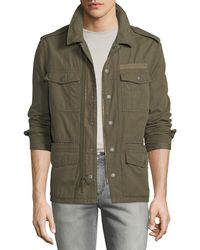 John Varvatos - Men's Garment-dyed Field Jacket With Dragon - Lyst