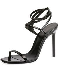 Saint Laurent - Amber Edie Patent Sandal - Lyst