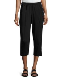 Eileen Fisher - Organic Stretch Jersey Cropped Pants - Lyst