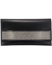 VBH - Passe Partout Xl Leather And Crystal Clutch Bag - Lyst