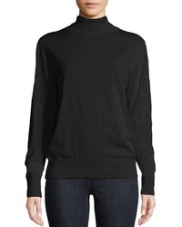 The Row - Donnie Turtleneck Long-sleeve Cashmere-blend Top - Lyst
