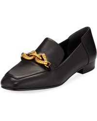 Tory Burch - Jessa Leather Loafers W/ Horse Hardware - Lyst