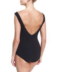 La Petite Robe Di Chiara Boni - Maudina Cutout Chest One-piece Swimsuit - Lyst