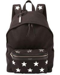Saint Laurent - City California Stars Nylon Backpack - Lyst