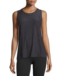 Beyond Yoga - Featherweight Space-dye Twisted Open-back Tank - Lyst