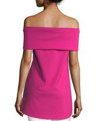 La Petite Robe Di Chiara Boni - Anneflor Off-the-shoulder Bow-front Top - Lyst