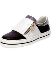 Roger Vivier - Sneaky Viv Colorblock Low-top Sneaker - Lyst