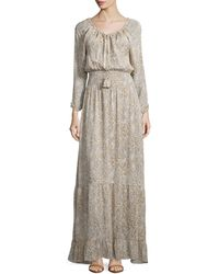 Calypso St. Barth - Elvaria Long-sleeve Maxi Dress - Lyst