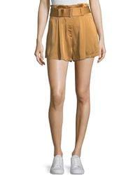 A.L.C. - Deliah High-waist Drapey Sateen Shorts - Lyst