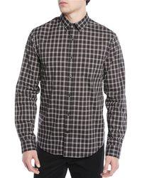 Vince - Men's Two-tone Plaid Pocket Sport Shirt - Lyst