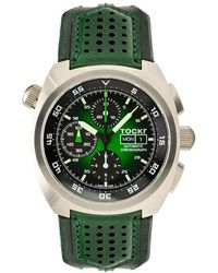 Tockr Men's 45mm Air Defender Chronograph Watch Green