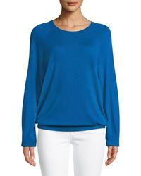 Michael Kors - Round-neck Long-sleeve Merino/cashmere Pullover - Lyst