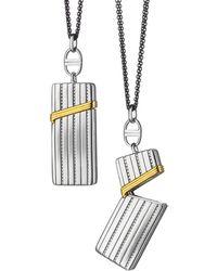 Monica Rich Kosann - Silver & 18k Yellow Gold Secret Box Pendant Necklace - Lyst