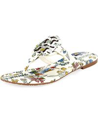 Tory Burch - Miller Printed Flat Thong Sandal - Lyst