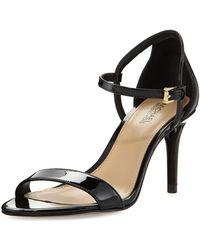 MICHAEL Michael Kors - Simone Patent Sandal - Lyst