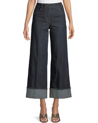 Boutique Moschino - Wide-leg Cropped Jeans - Lyst