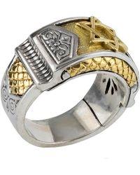 Konstantino - Men's Sterling Silver & Gold Star Of David Ring - Lyst