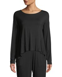 Natori - Feathers Elements Long-sleeve Lounge Top - Lyst