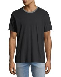 7 For All Mankind - Men's Striped-trim Ringer T-shirt - Lyst