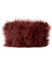 Brunello Cucinelli - Maribou Feather Mini Crossbody Bag - Lyst