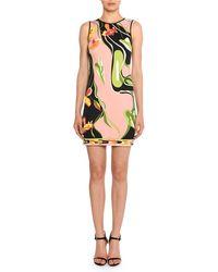 Emilio Pucci - Water-lily Print Sleeveless Sheath Dress - Lyst