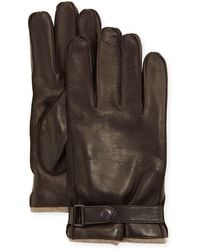 Portolano - Cashmere-lined Napa Glove W/belted Snap - Lyst