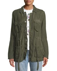 AG Jeans - Carell Snap-front Cinched-waist Utility Jacket - Lyst