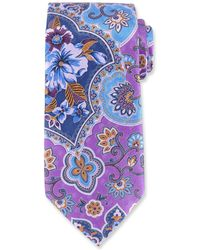 Ermenegildo Zegna | Large Paisley Silk Tie | Lyst