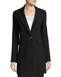 St. John | Micro Boucle Long Blazer | Lyst