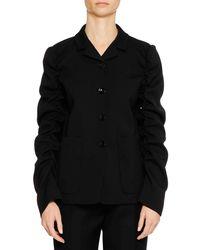 Jil Sander - Four-button Shirred-sleeves Wool Jacket - Lyst