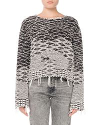 Saint Laurent - Raw-edge Pullover Sweater - Lyst
