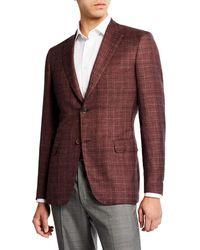 Brioni - Men's Cashmere/silk Plaid Sport Coat - Lyst