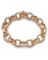 Monica Rich Kosann - 18k Rose Gold Marilyn Link Bracelet - Lyst