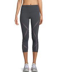 Alo Yoga - Laced High-waist Capri Leggings - Lyst