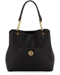 247e0fe7e71d Tory Burch - Chelsea Slouchy Leather Shoulder Tote Bag - Lyst