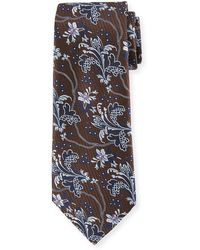 Ermenegildo Zegna - Large-floral Silk Tie - Lyst