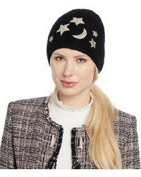 Jennifer Behr - Galexia Stars & Moon Embellished Beanie Hat - Lyst
