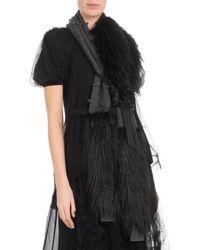 Simone Rocha - Wool-cashmere Knit Scarf W/ Faux-fur Wrap - Lyst