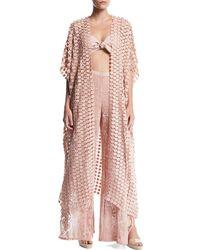 Miguelina - Priscilla Lace Kimono Coverup - Lyst