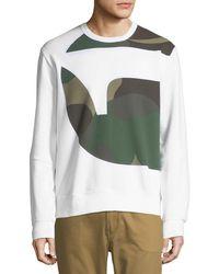 G-Star RAW - Torne Stalt Graphic-panel Sweater - Lyst