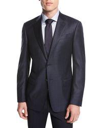 Giorgio Armani - Small-check Wool Two-button Sport Coat - Lyst