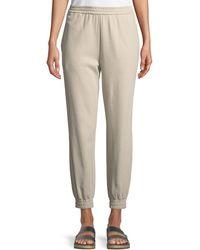 Joan Vass Petite Stretch Interlock Jogger Pants