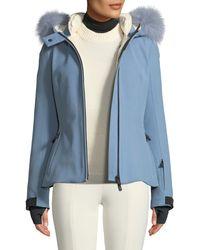 b6bf0481e8a6 Moncler Grenoble - Bauges Belted Jacket W/ Removable Fur Trim - Lyst