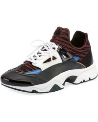 KENZO - Panelled Sneakers - Lyst