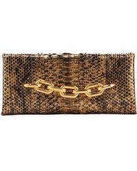 Tom Ford - Python Chain Clutch Bag - Lyst