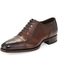 Tom Ford - Austin Cap-toe Oxford Shoe Brown - Lyst