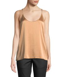 Eileen Fisher - Silk Charmeuse Cami Top - Lyst