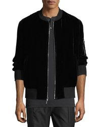Ovadia And Sons - Os-1 Reversible Velvet/satin Bomber Jacket - Lyst