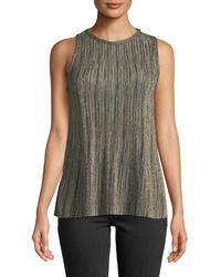 M Missoni - Metallic Knit Sleeveless Top - Lyst
